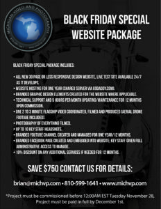 Special Website Package for Black Friday and Cyber Monday 2017