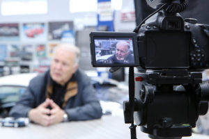Image take during an interview with Peter Brock in 2016